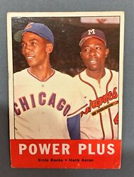1963 Topps Baseball 242 Power Plus Aaron Banks