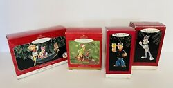 Vintage.....9 Hallmark Christmas Ornaments-popeye,scooby Doo, Barbie And More