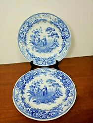 Beautiful Spode The Blue Room Collection Girl At Well Dinner Plate Set Of Two