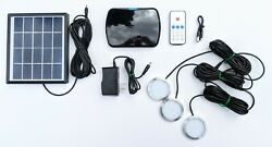 Solar Powered Remote Control Rechargeable Off Grid Camping Led Lighting Kit