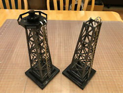 Marx O Train Two Plastic Beacon Light Towers Part Lot Untested - Approx. 12