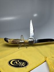 Case Tested Xx 5265 Sab Extra Nice Stag 1920-40 Folding Hunter Knife
