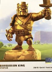 Limited Edition Clash Of Clans Supercell Golden Barbarian Statue