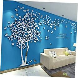 Acrylic 3d Tree Wall Stickers Wall Decal Easy To Install X-large Silver-left