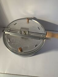 Whirley Pop Stovetop Metal Popcorn Popper Wabash Valley Farms - Used Once