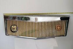 Rare Find Vintage Cadillac Classic Grill Gold With Topper