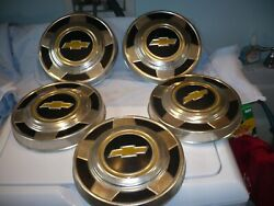 Lot Of 5 Aluminum 1970and039s 1980and039s Chevy 1/2 Ton Truck Hub Caps Dog Dish Free