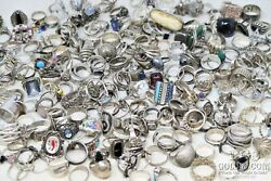 Resellers Lot Sterling Silver Rings 1000dwt Asst Types Styles Silver 925 19641