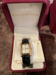Camrose And Kross Jacqueline Jackie Kennedy Classic Rectangular Case Watch