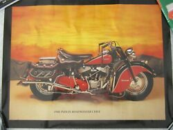 Vintage 1948 Indian Roadmaster Chief Poster 17 X 22, Beautiful