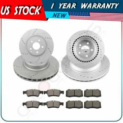 For Mercedes-benz E550 2007 - 2009 Front + Rear Brake Pads And Rotors Discs Kit