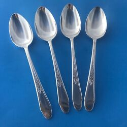 Wm. Rogers And Sons 1941 Gardenia Silverplate Soup Or Dessert Spoons