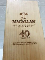 Macallan 40 Years. Empty Boxes Without Bottles