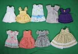 Lot Of 9 Boneka Corolle Size 10 Doll Clothes Dress W Hangers Clothes Rack