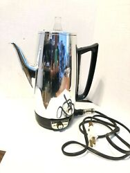 Vintage Ge General Electric Immersible 9 Cup Percolator Coffee Pot A3p15