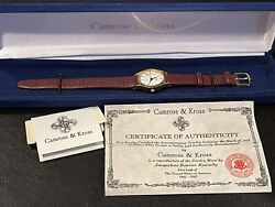 Camrose And Kross Jacqueline Kennedy Leather Watch
