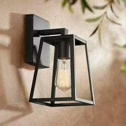 Vintage Style Edison Bulb Glass And Mystic Black Outdoor Wall Light 10.75 High