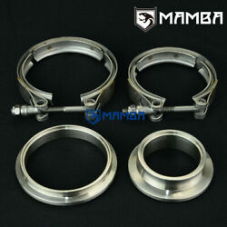 Sus304 V-band Turbine Housing Flange + Clamp / Tial In And Out Gt28r/gt30r/gt35r