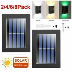 2x Outdoor Solar Led Deck Light Path Garden Patio Pathway Stairs Step Fence Lamp