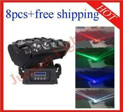 812w Rgbw 4 In 1 Led Beam Moving Head Wash Spider Dj Disco Stage Light 8pcs