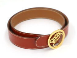 Hermes Belt Horse Gold Gp Buckle Reversible Leather 75 Authentic
