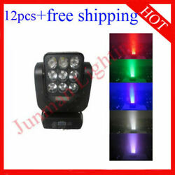 912w Rgbw 4 In 1 Matrix Led Beam Moving Head Stage Light 12pcs Free Shipping