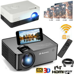 Wifi Bluetooth Mini Led Projector 1080p Hd Home Lcd Theater Hdmi/vga/sd Android