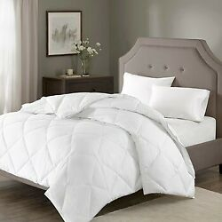 Madison Park Signature Diamond Quilting Cal King Comforter In White Mps10-101