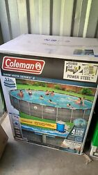 Coleman 22x 52 Swimming Pool Filter Pump Ladder Cover All Included 2021 New