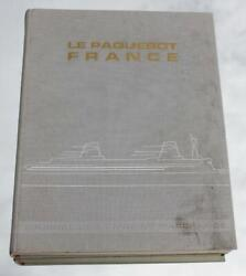 French Line Cgt Ss France Norway Deluxe Mint Shipbuilder Book Rare