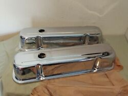 Chrome Valve Covers Tall Fits Small Block Chevy 327 350 383 400 Sbc Engines