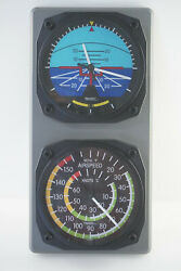 Trintec Artificial Horizon Clock And Airspeed Indicator Thermometer Console