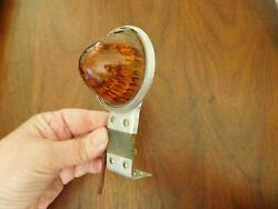 Vintage Glass Beehive Bullet Fender Marker Clearance Light Cab Motorcycle Truck