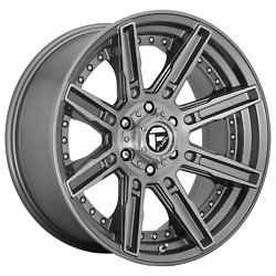 20 Inch 5x5 4 Wheels Rims 20x9 +1mm Brushed Gun Metal Tinted Clear Fuel 1pc