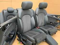 Audi A6 S6 Rs6 C7 4g S-line Leather Trim Leather Seats Alcantara Red Seams