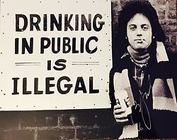 Billy Joel Signed Autographed 11x14 Rare Image Limited Edition Beer Photograph