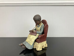 Sarahs Attic Signed 1995 Limited Edition Black Heritage Hattie With Chair