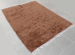 Turkish Rug 59''x82 Hand Woven Siirt Mohair Rug 152x210cm No Dyes