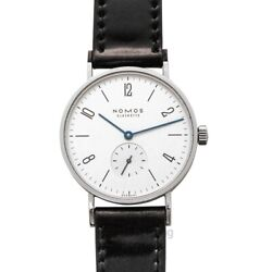 Nomos Glashuette Tangente 101 White Silver-plated Dial Men's Watch Genuine