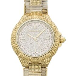 Camille Mk5720 Gold Crystal Paved Dial Lady's Watch Genuine