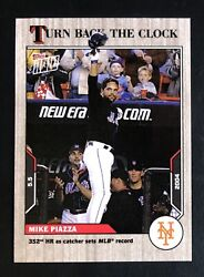 2021 Topps Now Turn Back Clock 35 Mike Piazza Sets Catcher Hr Record Ash 1/3