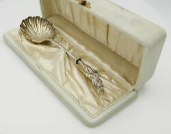 Gorham Olive Branch Sterling Silver Sifter Spoon In Original Box