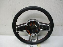 2020 Jeep Wrangler Black Leather Red Stitching Steering Wheel Oem Assembly