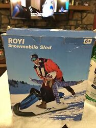 Royi Inflatable Snowmobile Snow Sled, Kids And Adults Heavy-duty Giant Snow Tube