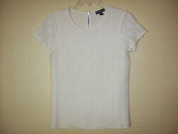 New W/out Tags White Lace Blouse Top By Market And Spruce Ladies Size Xs