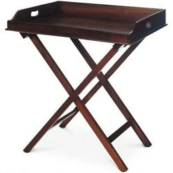 Vintage Cherry Wood Folding Butlers Tray/table