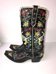 Double D Ranch By Old Gringo Ladies Black Cowgirl Bandit Boot Size 7.5