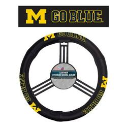 Michigan Wolverines Leather Steering Wheel Cover [new] Ncaa Car Auto Truck Suv