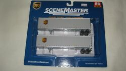 Walthers Ho 45and039 Stoughton Trailer 2-pack Ups With New Shield 949-2213