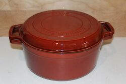 Staub 28cm Cocotte Round Cast Iron Braise And Grill Pan Combo